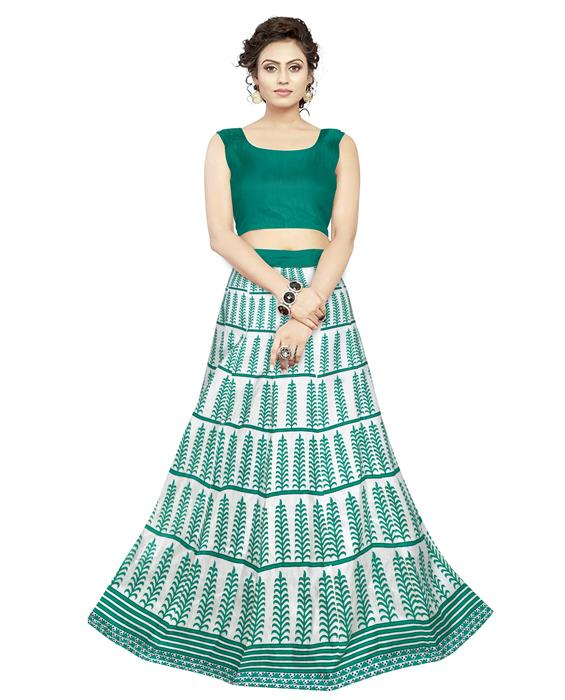Exclusive Dezire Green Lehenga Zyla Fashion