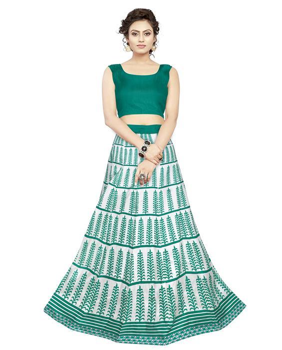 Exclusive Dezire Green Lehenga Zyla Fashion