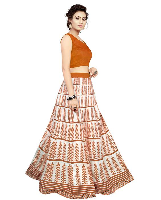 Exclusive Dezire Oange Lahenga Zyla Fashion