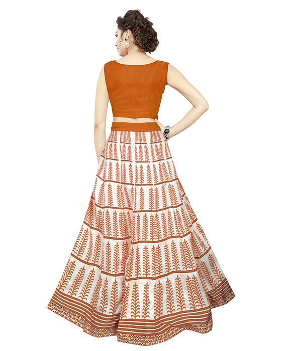 Exclusive Dezire Oange Lahenga Zyla Fashion