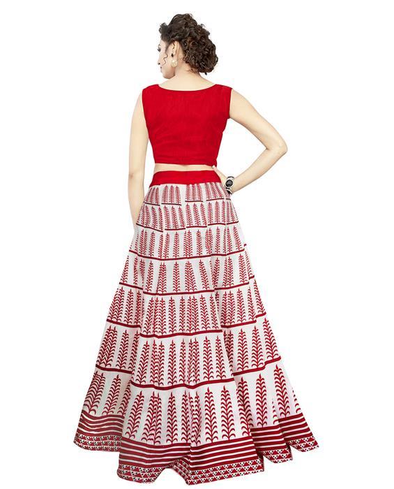 Exclusive Dezire Red Lahenga Zyla Fashion
