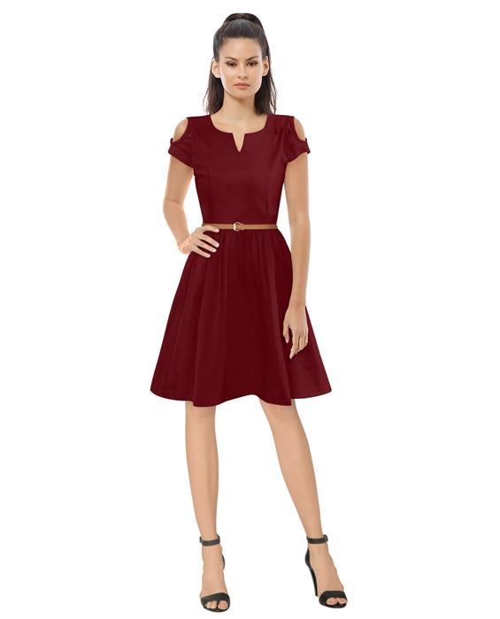 Exclusive Maroon Isha Designer Dress Zyla Fashion