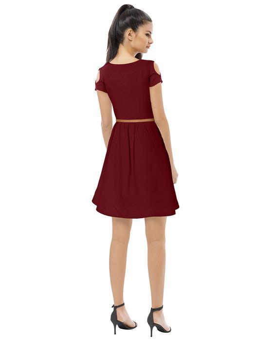 Exclusive Maroon Isha Designer Dress Zyla Fashion