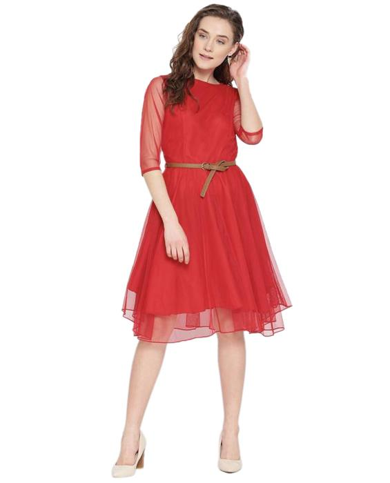 Exclusive Red Moonlight Dress Zyla Fashion