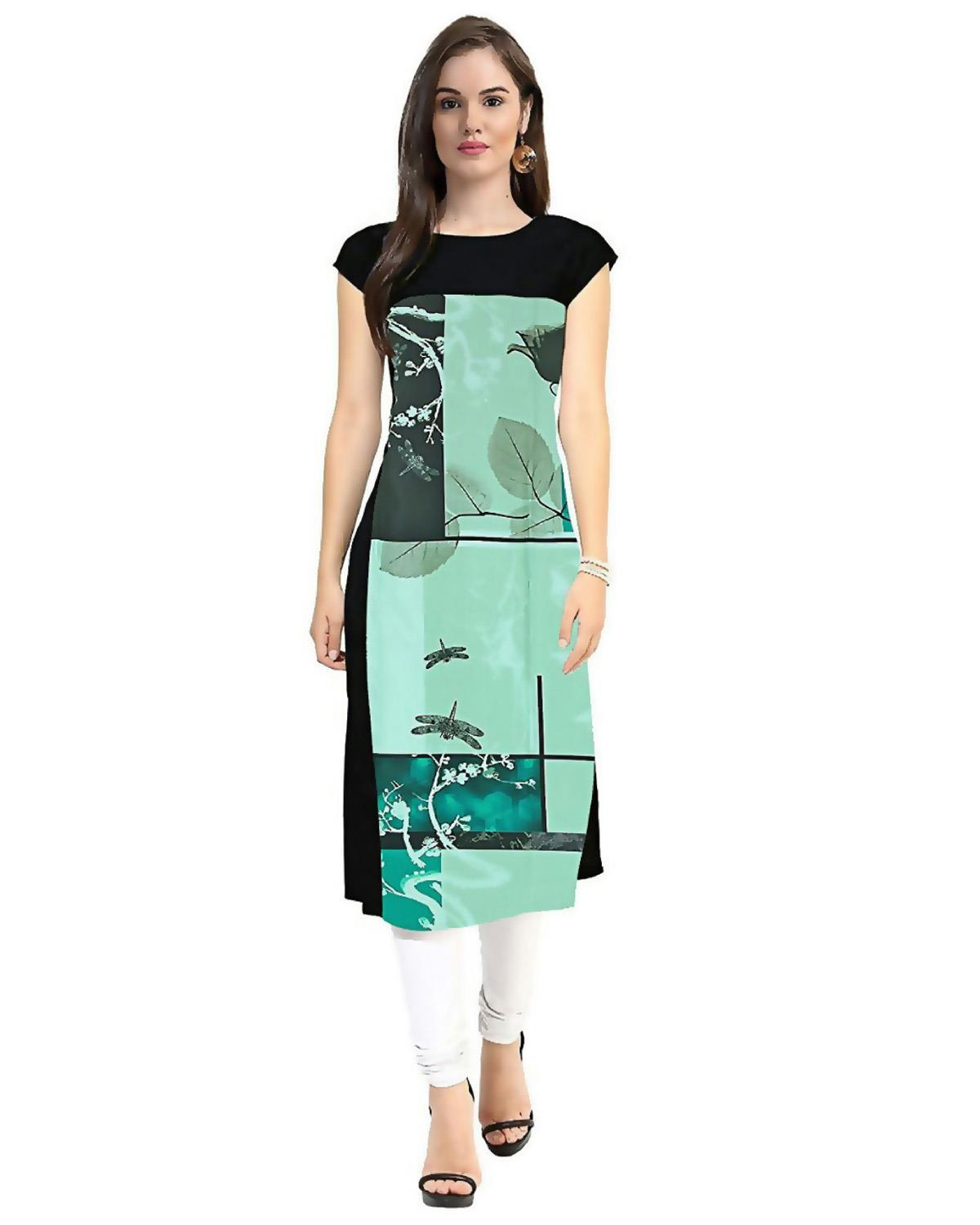 Festive and Party Printed Light Green Kurti