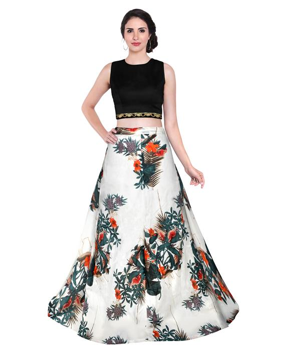 Fox Ghost White Designer Lehenga Zyla Fashion