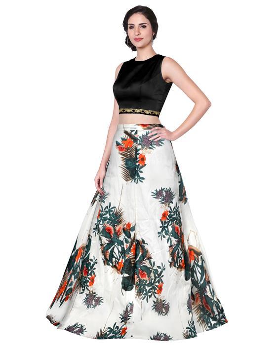 Fox Ghost White Designer Lehenga Zyla Fashion