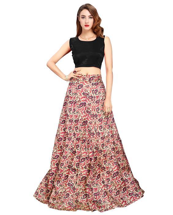 Garden Black Designer Lahenga Zyla Fashion