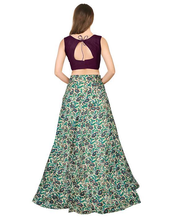 Garden Wine Designer Lahenga Zyla Fashion