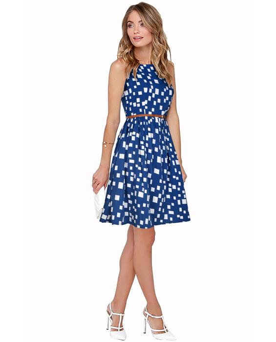 Highway Exclusive Designer Blue Dress Zyla