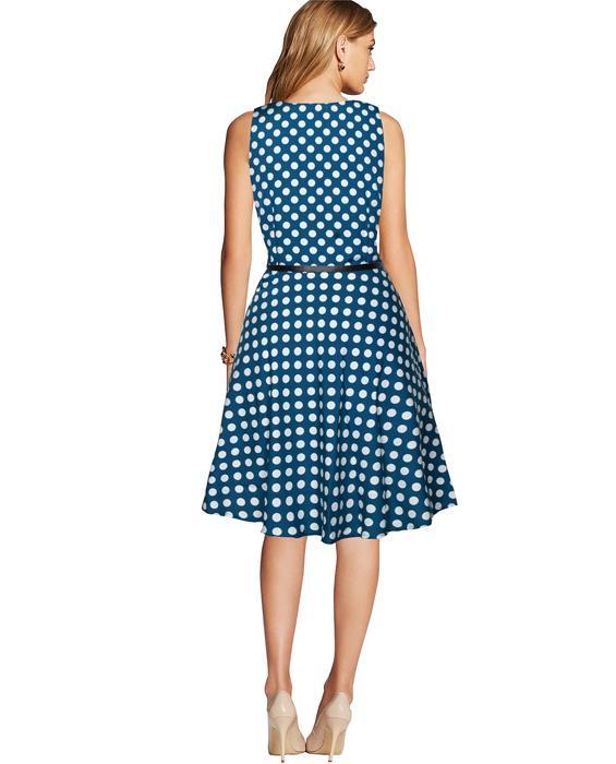 Irish Designer Steel Blue Dress Zyla