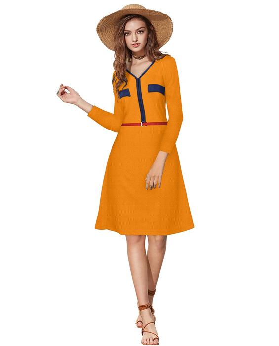 Isha Designer Orange Dress Zyla Fashion