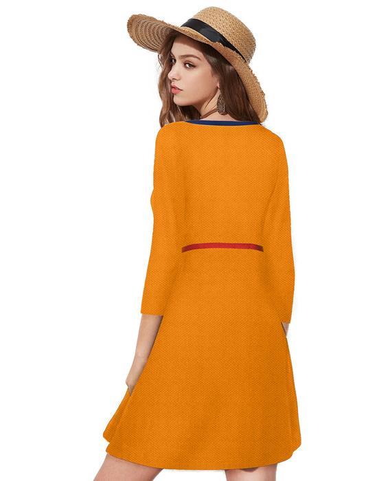 Isha Designer Orange Dress Zyla Fashion