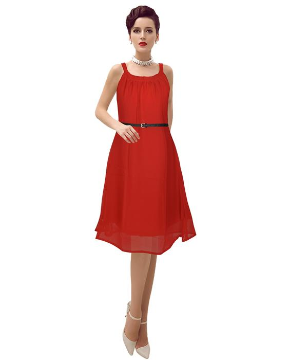 Isha Designer Red Dress Zyla Fashion