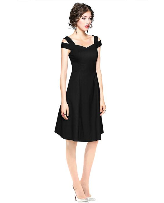 Isha Exclusive Black Designer Dress Zyla Fashion