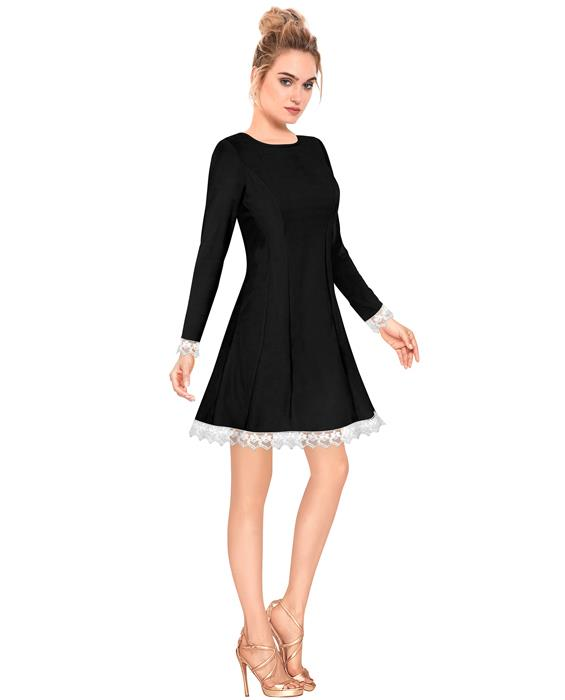 Isha Exclusive Designer Black Dress Zyla