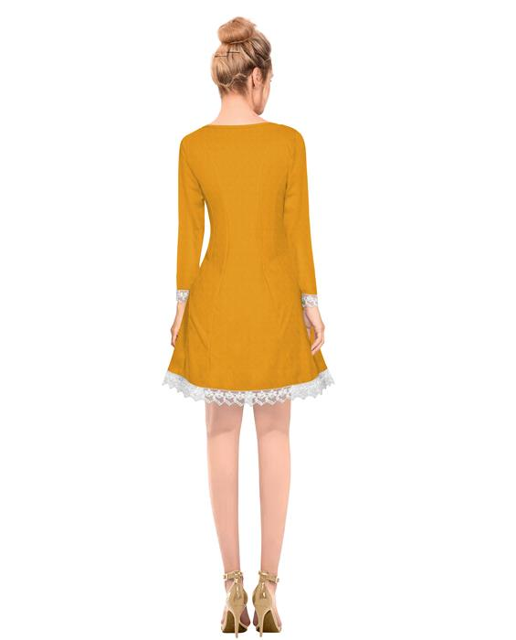 Isha Exclusive Designer Orange Dress Zyla Fashion