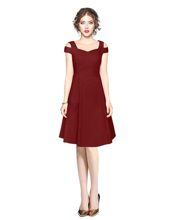 Isha Exclusive Maroon Designer Dress Zyla Fashion