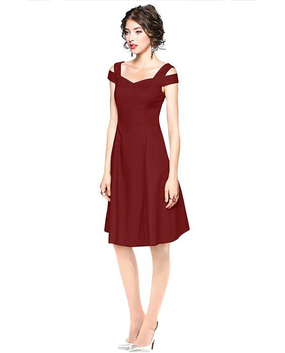 Isha Exclusive Maroon Designer Dress Zyla Fashion