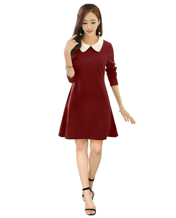 Isha Exclusive Maroon Dress Zyla Fashion