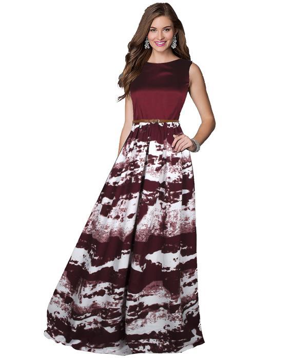 Jeny Maroon Designer Gown Zyla Fashion