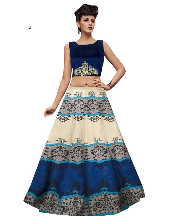 Jyoti Blue Designer Lahenga Zyla Fashion
