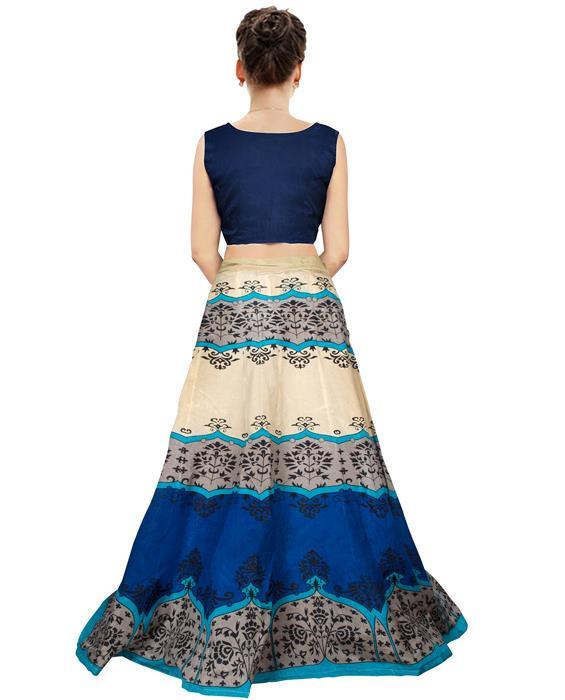 Jyoti Blue Designer Lehenga Zyla Fashion