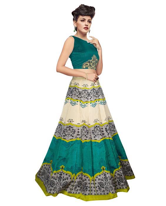 Jyoti Green Designer Lehenga Zyla Fashion