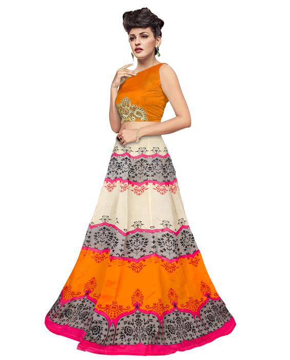 Jyoti Orange Designer Lehenga Zyla Fashion