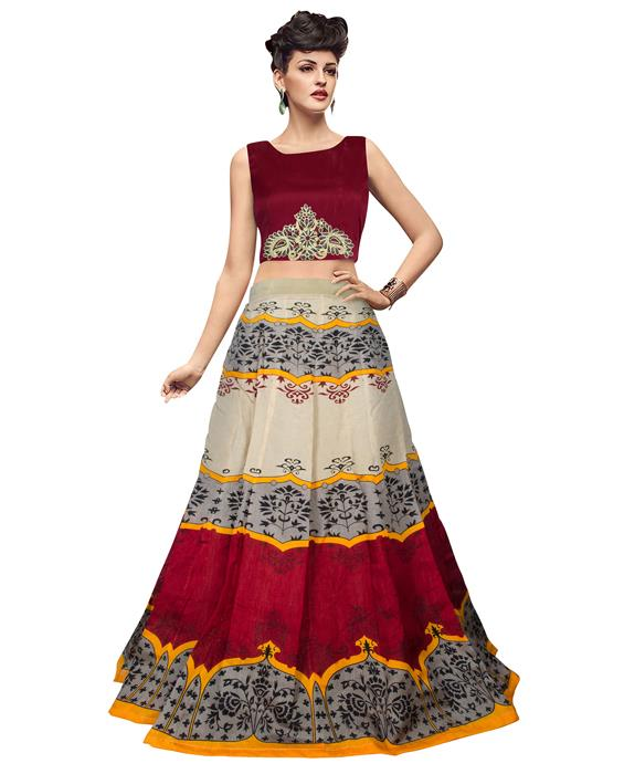 Jyoti Red Designer Lehenga Zyla Fashion