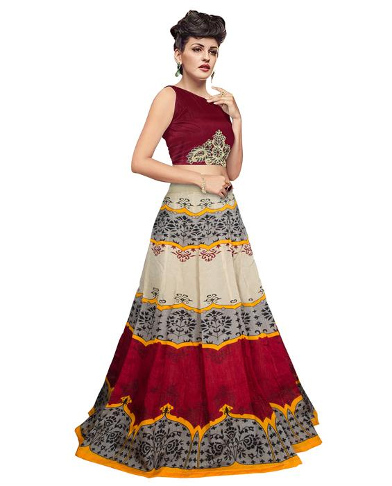 Jyoti Red Designer Lehenga Zyla Fashion