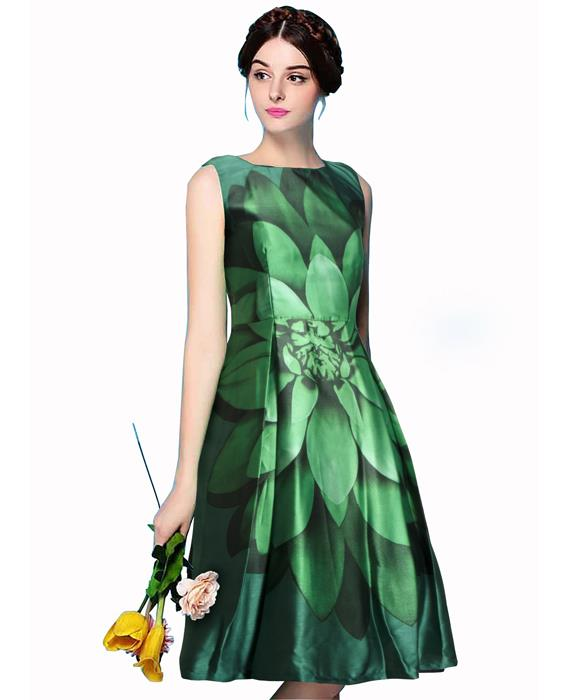 Liza Exclusive Bollywood Green Dress