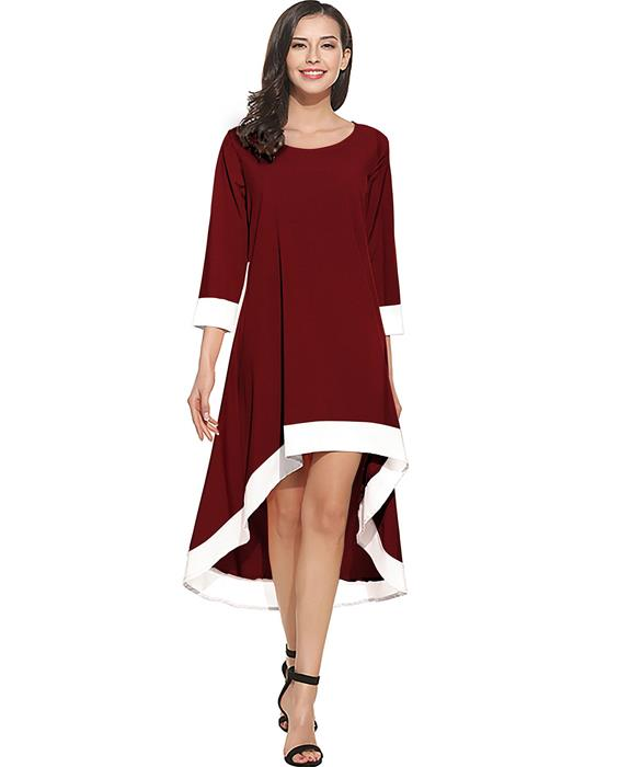 Magic Designer Maroon Dress Zyla Fashion
