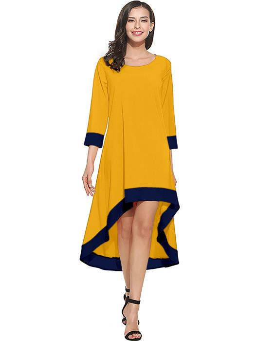Magic Designer Yellow Dress Zyla Fashion