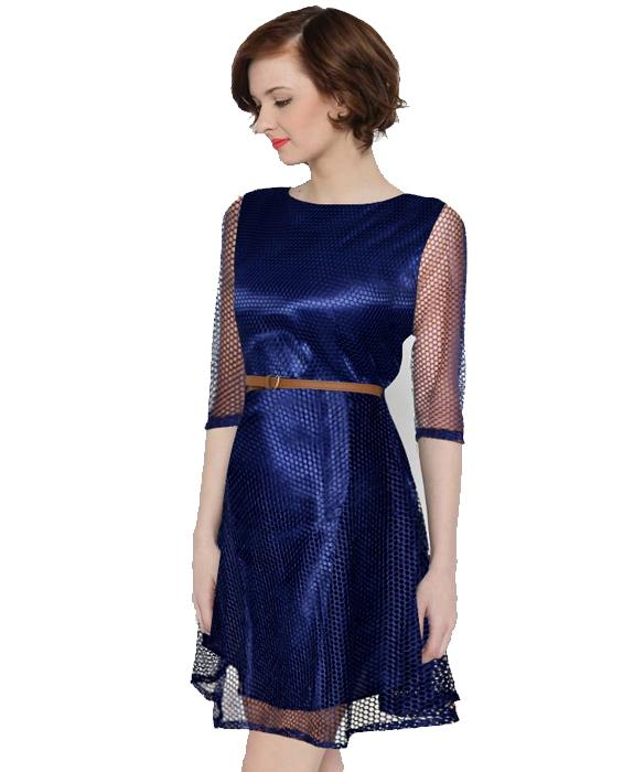Maxican Nevy Blue Dress Zyla Fashion