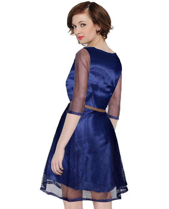 Maxican Nevy Blue Dress Zyla Fashion