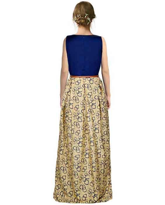 Mentos Beige Designer Gown Zyla Fashion