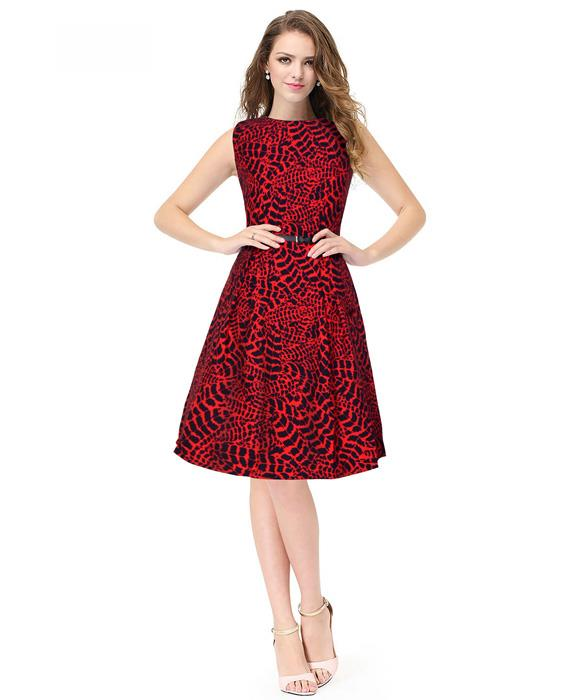 Mona Designer Red Dress Zyla Fashion