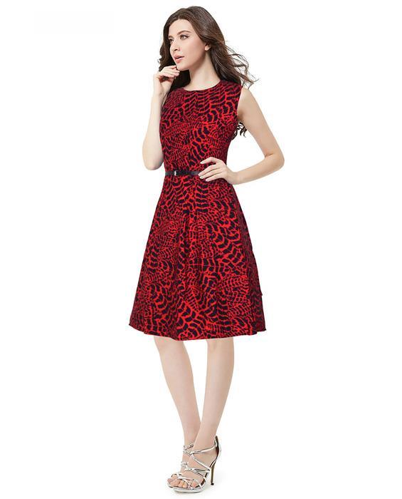 Mona Designer Red Dress Zyla Fashion