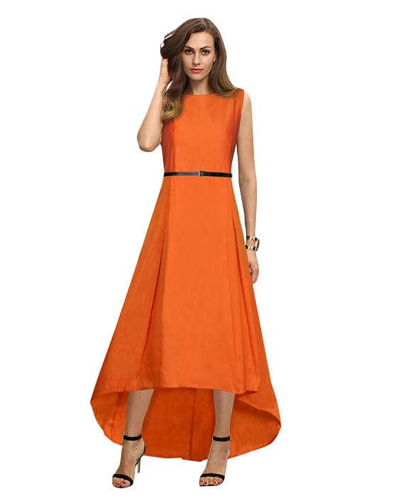 Nitya Orange Designer Gown Zyla Fashion