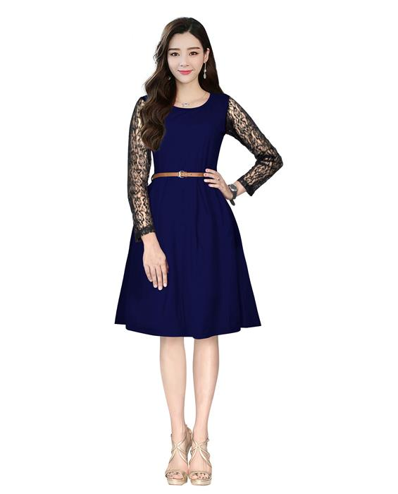 Oppo Designer Blue Western Dress
