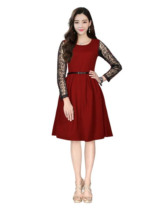 Oppo Designer Maroon Western Dress