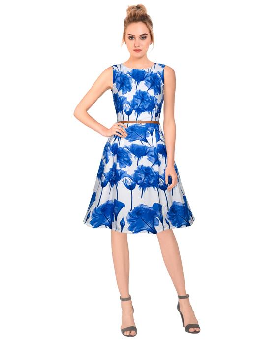 Parle Designer Blue Dress Zyla Fashion