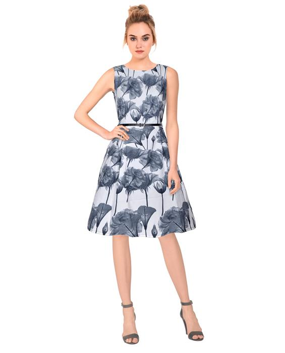 Parle Designer Gray Dress Zyla Fashion