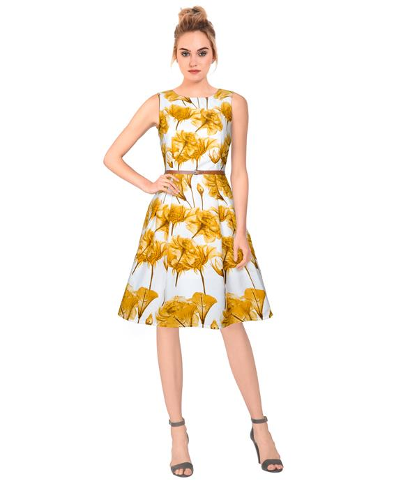 Parle Designer Yellow Dress Zyla Fashion