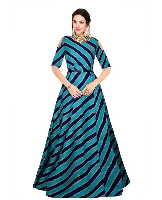 Prince Blue Designer Gown Zyla Fashion