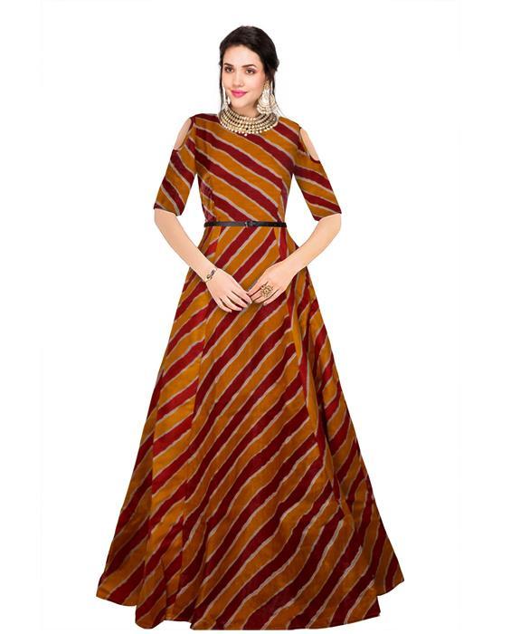 Prince Maroon Designer Gown Zyla Fashion