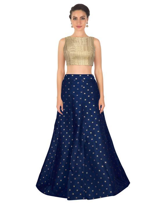 Rubi Blue Designer Lahenga Zyla Fashion