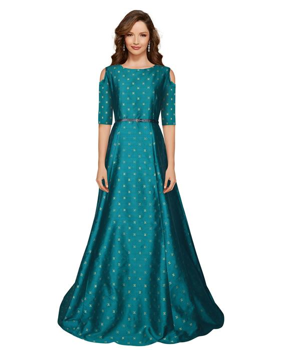 Sofiya Green Designer Gown Zyla Fashion