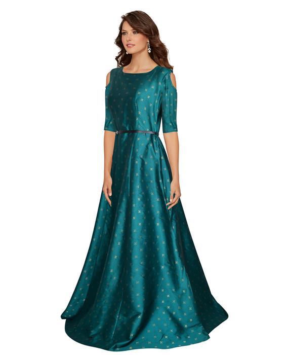 Sofiya Green Designer Gown Zyla Fashion